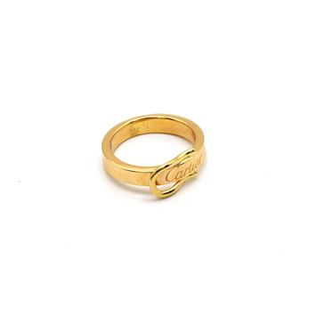 Real Gold CR Flat Belt Ring (SIZE 7.5) R1433