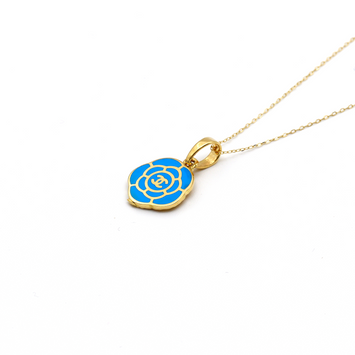 Real Gold CH Blue Necklace N1143