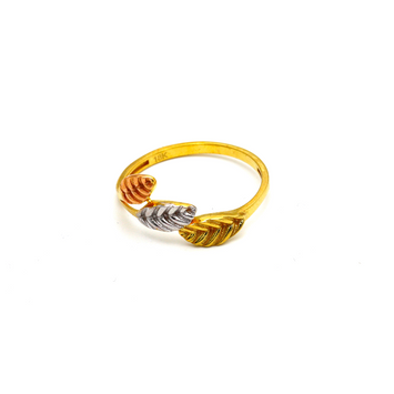 Real Gold 3 Color 3 Leaf Ring 5929 (SIZE 7) R1662