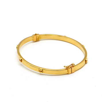 Real Gold CR Debossed Screw Bangle (SIZE 16.5) BA1179