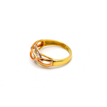 Real Gold 3 Color Oval Layered Ring 6036 (SIZE 6.5) R1665 - 18K Gold Jewelry