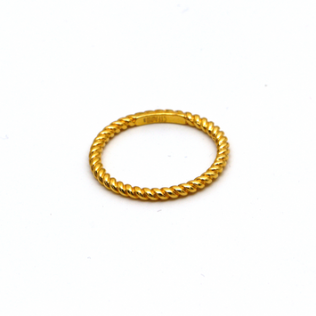Real Gold Rope Twisted Ring 5770 (SIZE 6) R1668