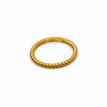 Real Gold Rope Twisted Ring 5770 (SIZE 6) R1668 - 18K Gold Jewelry