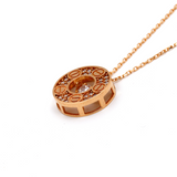 Real Gold CR Rose Gold L Necklace N1155