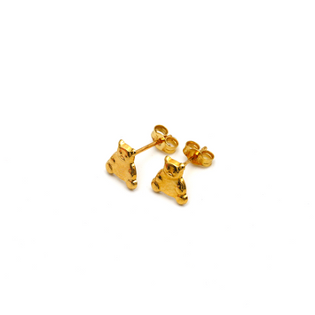Real Gold Teddy Bear Earring Set 0056 K1225