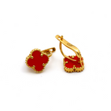 Real Gold VC Red Press M Earring Set E1485