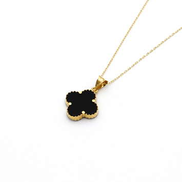 Real Gold VC Black Choker Necklace N1288
