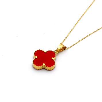 Real Gold VC Red Necklace N1290