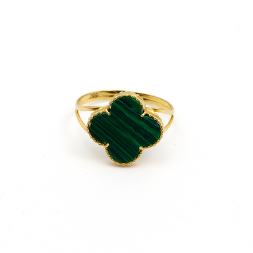 Real Gold VC Green L Ring (SIZE 7.5) R1441