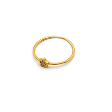 Real Gold Star Ring (SIZE 7.5) R1672 - 18K Gold Jewelry
