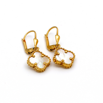 Real Gold VC Peanut M Hanging Earring Set E1488