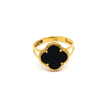 Real Gold VC Black L Ring (SIZE 7.5) R1443