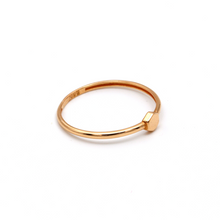 Real Gold Rose Gold Ring (SIZE 7.5) R1441 - 18K Gold Jewelry