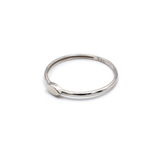Real Gold Oval White Gold Ring (SIZE 7.5) R1443 - 18K Gold Jewelry
