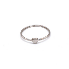 Real Gold Heart White Gold Ring (SIZE 7.5) R1449 - 18K Gold Jewelry