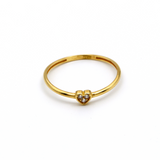 Real Gold Stone Heart Ring (SIZE 7.5) R1451