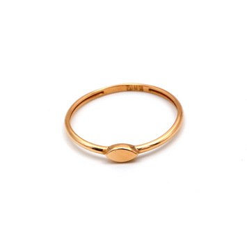 Real Gold Oval Rose Gold Ring (SIZE 7.5) R1455