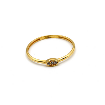 Real Gold Stone Oval Ring (SIZE 7.5) R1456