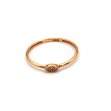 Real Gold Stone Oval Rose Gold Ring (SIZE 7.5) R1458