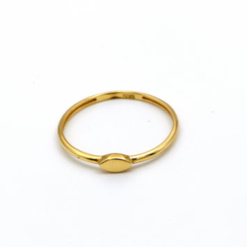 Real Gold Oval Ring (SIZE 7.5) R1459