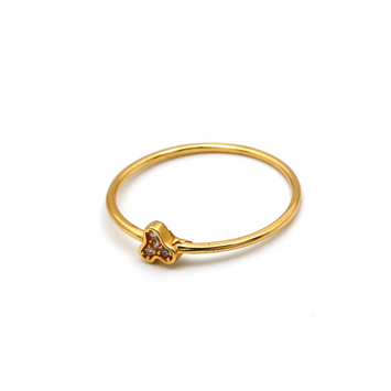 Real Gold 3 Stone Ring (SIZE 7.5) R1460