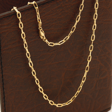 Real Gold Charm Vermeil Link Chain Necklace (55 C.M) CH1078