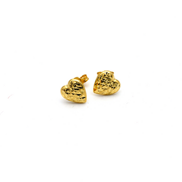 Real Gold Small Heart 0088 Earring Set E1502