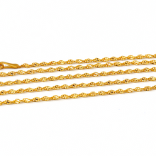 Real Gold GZ40 Choker Chain Necklace 2021 (40 C.M) CH1070 - 18K Gold Jewelry