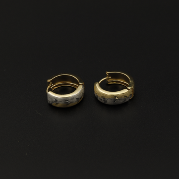 Real Gold 2 Color Round 2290 Earring Set E1509