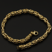 Real Gold Thick Men Bracelet 0034/11 BR1217 - 18K Gold Jewelry