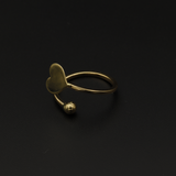 Real Gold Plain Heart Ring (SIZE 6.5) 0185 R1464
