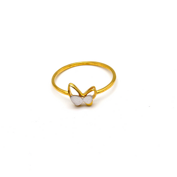 Real Gold 2 Color Butterfly Ring (SIZE 7) R1468
