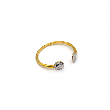 Real Gold 2 Color Oval Head Ring (SIZE 7) R1469