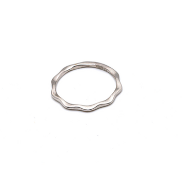 Real Gold Flat White Gold Ring (SIZE 6) R1471