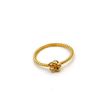 Real Gold Flower Ring (SIZE 6) R1472