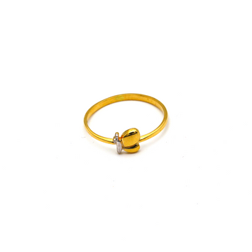 Real Gold 2 Color Butterfly Ring (SIZE 5.5) R1473