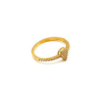 Real Gold Drop Stone Ring (SIZE 5.5) R1475