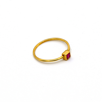 Real Gold Red Stone Ring (SIZE 6) R1477
