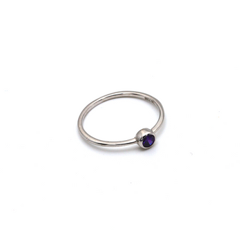 Real Gold Violet Stone White Gold Ring (SIZE 5.5) R1478