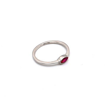 Real Gold Pink Stone White Gold Ring (SIZE 4.5) R1479