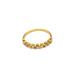 Real Gold 2 Color Beads Ring (SIZE 7) 6291 R1496