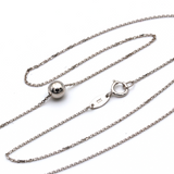 Real Gold Ball White Gold Necklace 976 K1065