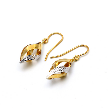 Real Gold 2 Color Hanging Earring Set E1527