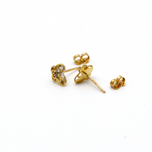 Real Gold Small 2 Side Butterfly Earring Set E1540 - 18K Gold Jewelry