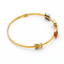 Real Gold 3C VC Bangle (SIZE 17.5) BA1190 - 18K Gold Jewelry