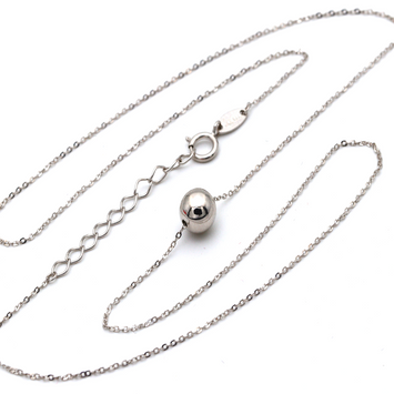 Real Gold 6 M.M Ball Adjustable Size Necklace N1161
