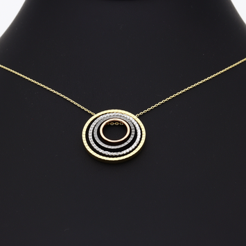 Real Gold 4 Color Chopard Round Necklace N1163