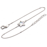 Real Gold Star Shell Adjustable Size White Gold Bracelet 0270 BR1231
