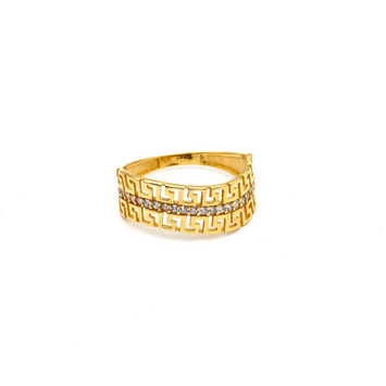 Real Gold Maze Hoop Ring (SIZE 6.5) R1500