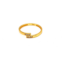 Real Gold CR Ring (SIZE 7.5) R1505 - 18K Gold Jewelry